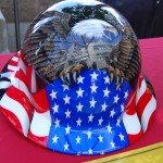 Patriotic Hard Hat at Exhibitor's Booth