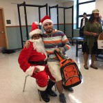 Santa (AKA SCSF staff member Teandra Johnson) with a guest