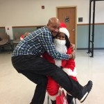 Ms. Claus has her hands full this year with Sr. School Counselor Jermaine King.