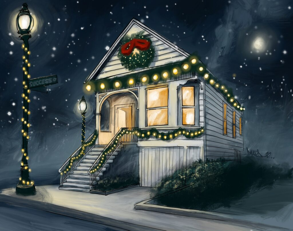 Success Centers Holiday Card Illustration